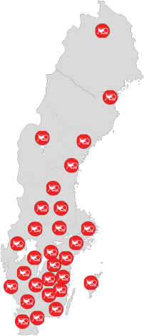 JOBmeal map sweden